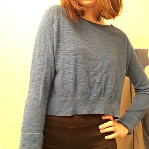 Large Mossimo Supply Co. blue crop top